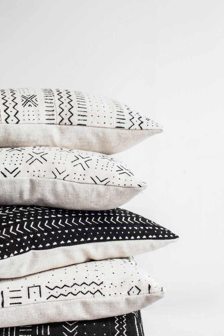 mudcloth cushions #etsy
