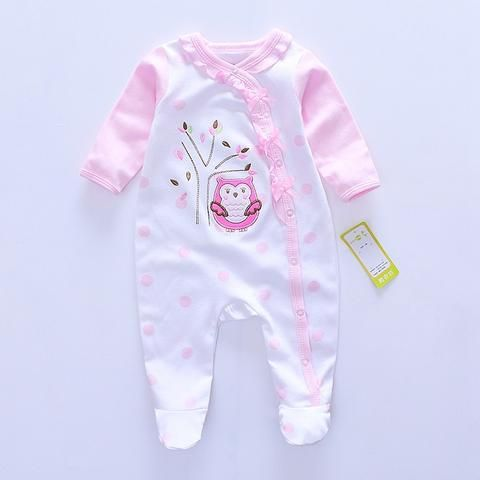 17c601dcb596 2017 Fashion Baby girl Romper Newborn rompers Baby Boy Girl Romper Long  Sleeve Infant Jumpsuits Soft Cotton Baby Clothes Pajamas