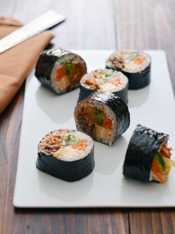定番!具だくさんキムパ。(6種の韓国のり巻き) [ご飯・麺・粉もの ...