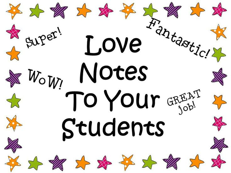 Classroom Incentive Ideas ~ Teacher stationery note cards love notes to your