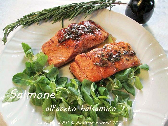 Il salmone con l'aceto balsamico di Modena è la ricetta di oggi, uno dei migliori piatti fatti nella mia cucina,davvero strabuono!! Ricette La cucina di ASI