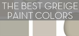 I'm adoring greige hues because you really can't go wrong. Whether a space has cooler or warmer tones, it will go in that direction. So my advice: If you are wanting neutral, go with greige! While I'm in the midst of finishing up the walls + stripes, I thought I would share with you my Top 10 Favorite Greige Colors... Please Click to Continue Reading...