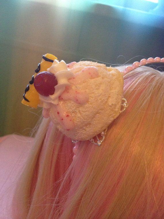 Vanilla Ice Cream Scoop Pink And Silver Sweet Lolita by zefora, $15.00