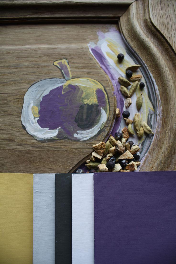 #peinture #paint #couleurs #déco #intérieur #interior #inspiration #colors Améthyste, safran, coton rose, réglisse, flanelle