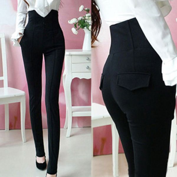 Sexy Womens High Waist Pants Pencil Pants Skinny Jeans Black 4 Size Trousers Free Shipping-in Pants & Capris from Women's Clothing & Accessories on Aliexpress.com | Alibaba Group