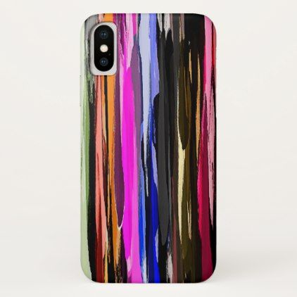 Watercolor Abstract Stripes Background iPhone X Case - girly gifts girls gift ideas unique special