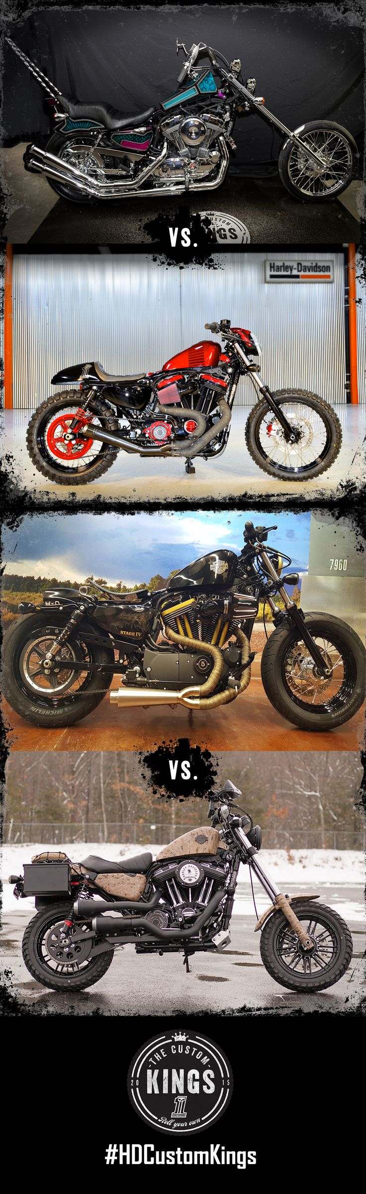 Round two of the #HDCustomKings Sportster competition is underway. Who will win the crown? Vote daily! | Harley-Davidson #HDCustomKings At-Large Region