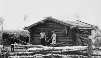 Today's log homes are often spacious and elegant, but in colonial America log cabins reflected the hardships of life on the frontier. Description from newslocker.com. I searched for this on bing.com/images