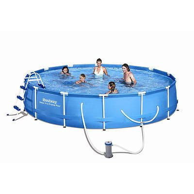 Above-Ground Pools 116405: Bestway Inflatables Steel Pro Frame Pool Set 15 Foot X 36 Inch -> BUY IT NOW ONLY: $159.99 on eBay!