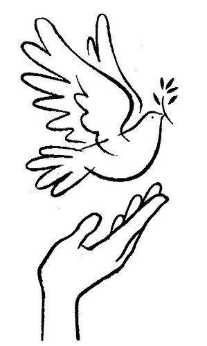 Dibujo de paloma de la paz para imprimir