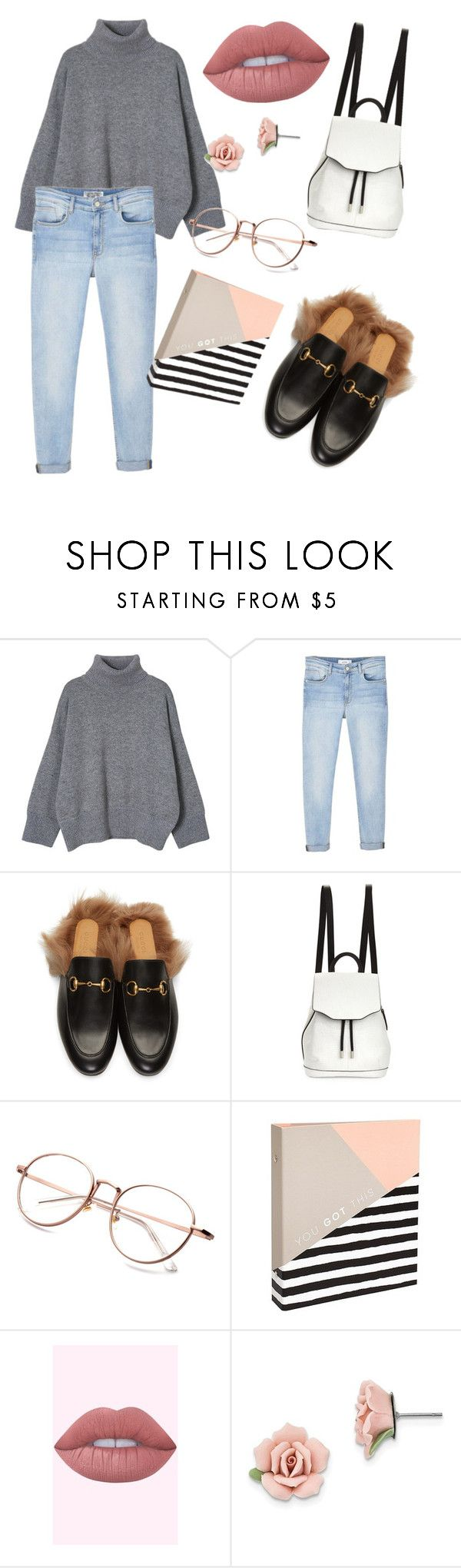 """""""outfit#102"""" by alifia-fae on Polyvore featuring MANGO, Gucci, rag & bone and 1928"""