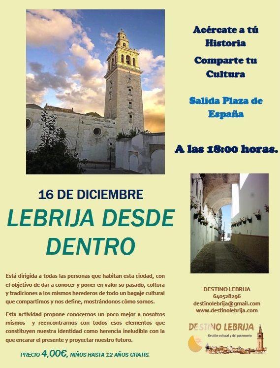 Buenos días amig@s !! Tenéis ya vuestra reserva para la próxima ruta el día 16 de Diciembre?  * www.destinolebrija.com * destinolebrija@gmail.com * Redes sociales: Facebook, Twitter, Instagram, Google Plus, Pinterest. * WhatsApp: 640528296