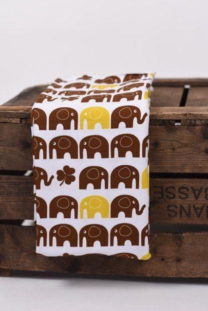 Retro elefanter brun/gul