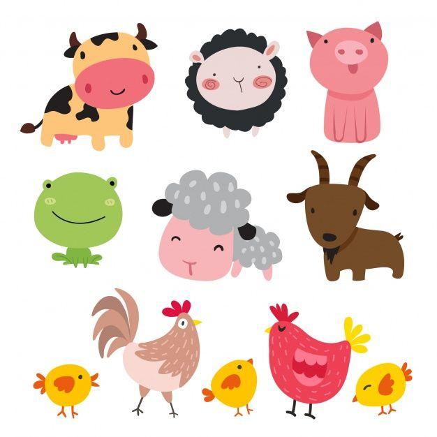 Telechargez Collection D Animaux De Ferme Gratuitement Animal Clipart Animal Illustration Animal Doodles