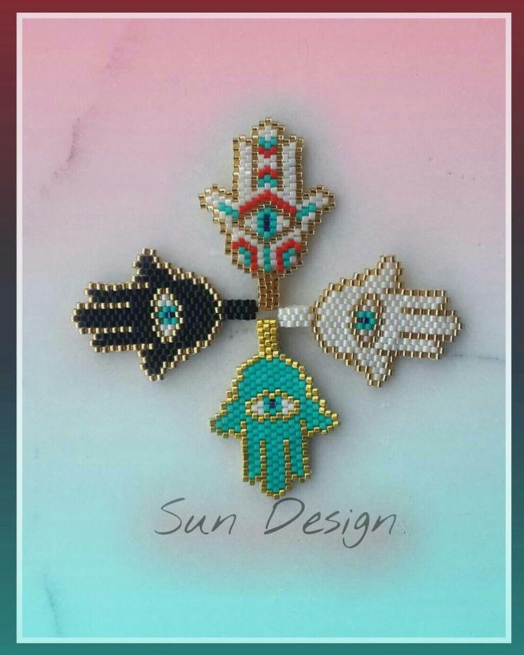 Fatma Ananın Eli Hamsa #miyuki #bracelets #jewellery #beads #peyote #stitch #brick #bileklik #fatmaananıneli #hamsa #fatmanıneli