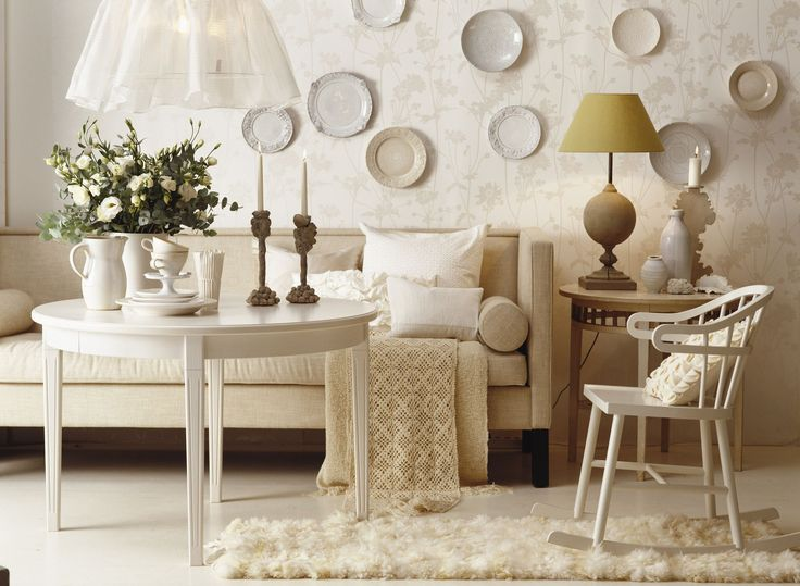 Living Room Designs White On Mixing Elements Like A Fluffy Rug Crocheted Throw And Shiny Plates Puts The Focus Textures Rather Than Colors