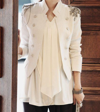 Hot sale cool Napoleon military style jacket epaulets adorn suit blazer white chic suit free shipping 140 on AliExpress.com. $24.89