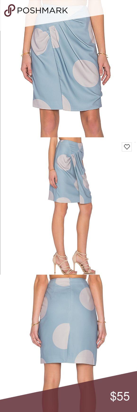 "TY-LR The Dot Discovery Skirt in Grey & Duck Egg Brand new, never worn!! Waist 14"" flat across, hip 18"", 22"" long TY-LR Skirts Midi"