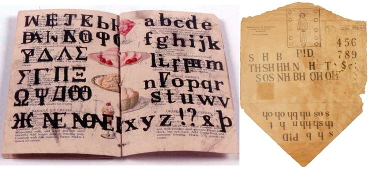 Magical Rediscovered Sketchbooks of a Gifted Deaf and Mute Farm Boy:    Even though he did not put words together, he frequently made crisp, exact copies of individual letters, alphabets, slogans and headlines. This desire to communicate is probably what caused Castle to produce such a huge volume of art.