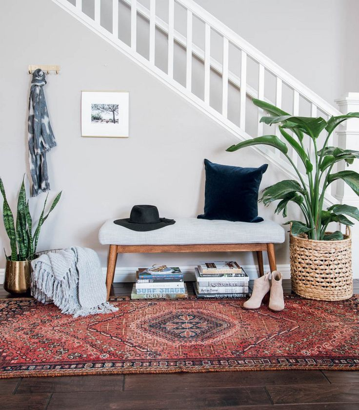 global-inspired bohemian entryway