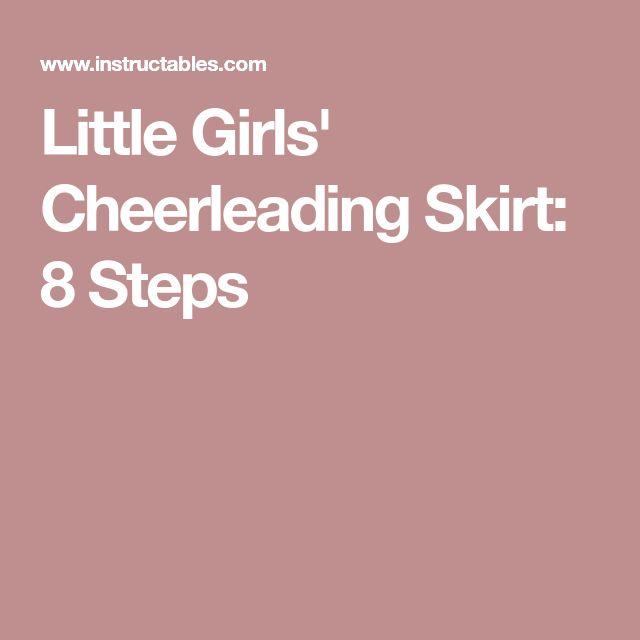 Little Girls' Cheerleading Skirt: 8 Steps