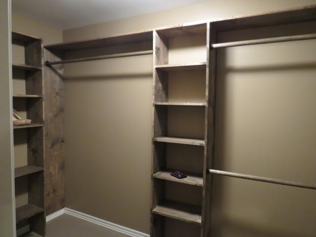 A Custom Closet idea....love how rustic it looks!!