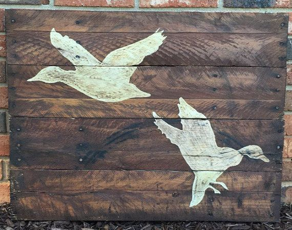 Duck Hunting Pallet Wood Art Reclaimed Wood By HarveyPalletDesigns Part 29