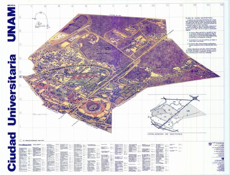 Mapa ciudad universitaria. Elaborado por  Jorge Tames y Batta