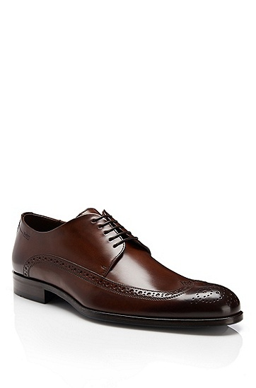'Fittos' | Leather Lace-Up Dress Shoe by BOSS