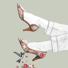Stasia Rose Court Shoes- Artwork