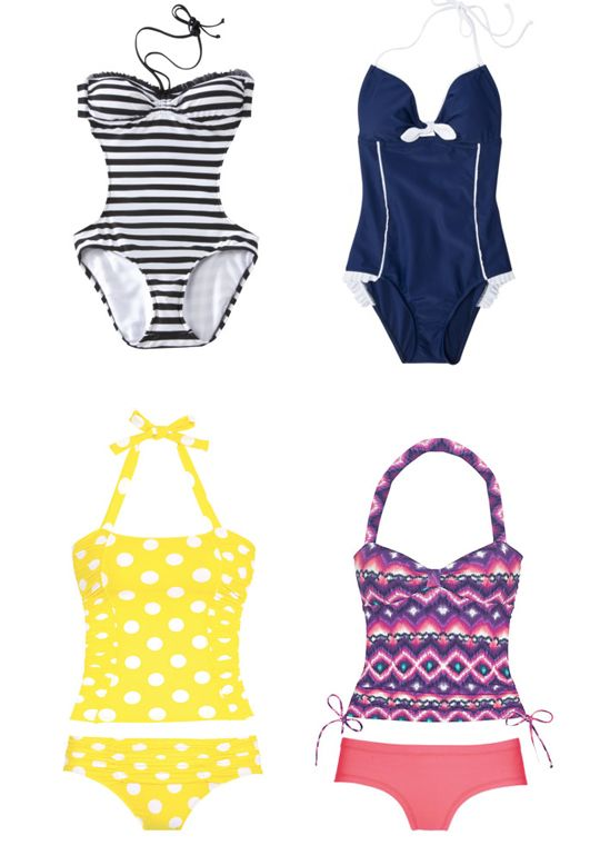 Target and Delia's swimsuits