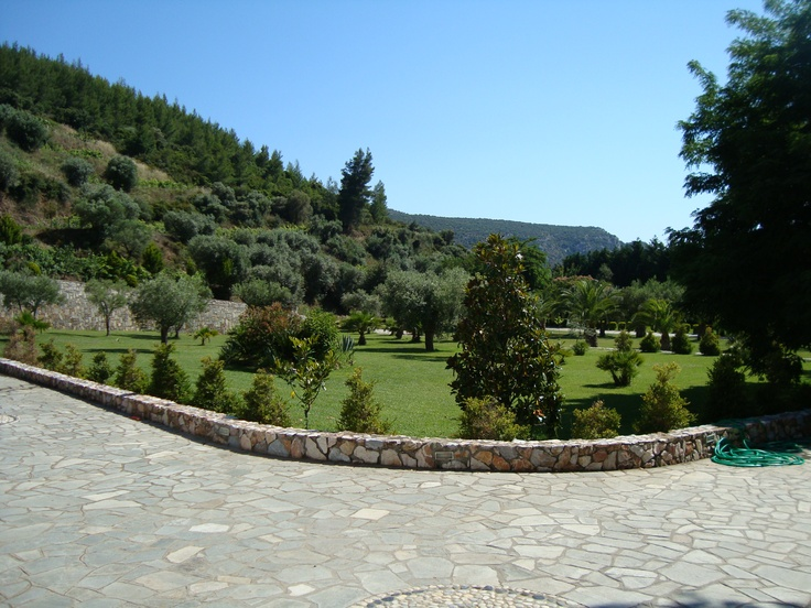 Paved roads and terraces