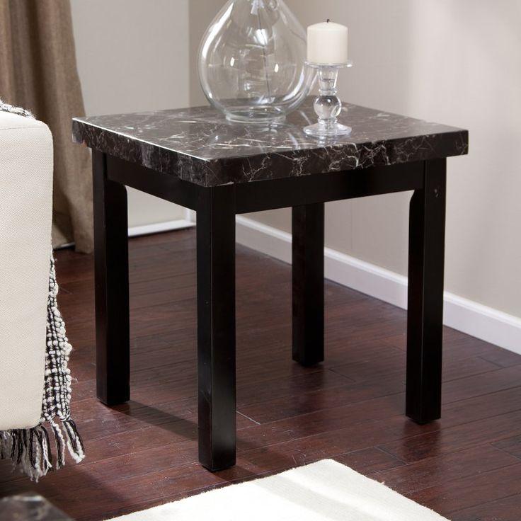 Galassia Faux Marble End Table - WSC190-E