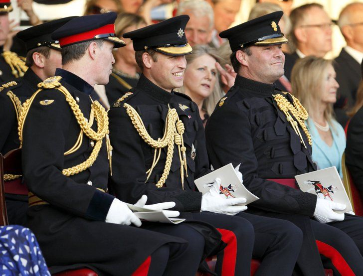 Pin for Later: Around the World With the Week's Best Photos Big Laughs Prince William smiled while sitting at the Household Division's Beating Retreat on Horse Guards Parade in London.