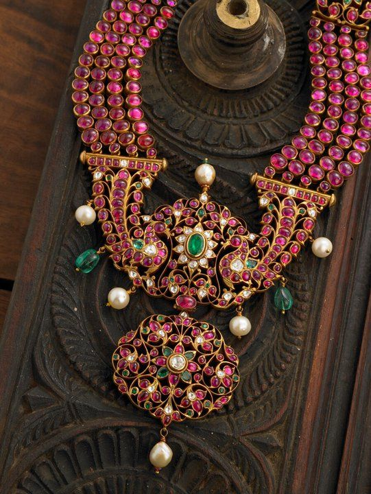 Peacock Ruby Mala || South Indian Temple Jewellery