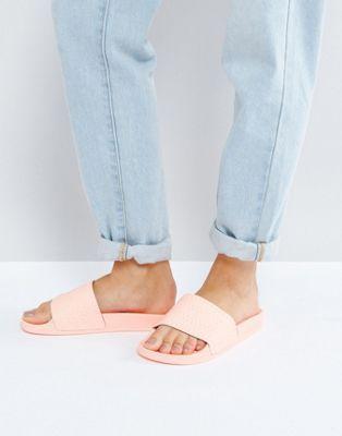adidas Originals - Adilette - Sandali slider corallo tenue