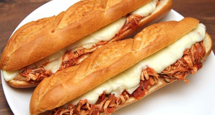 Lassan sült paradicsomos csirke szendvics recept | APRÓSÉF.HU - receptek képekkel