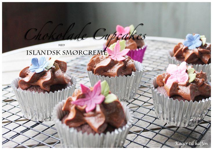 Chokolade Cupcakes med Islandsk smørcreme
