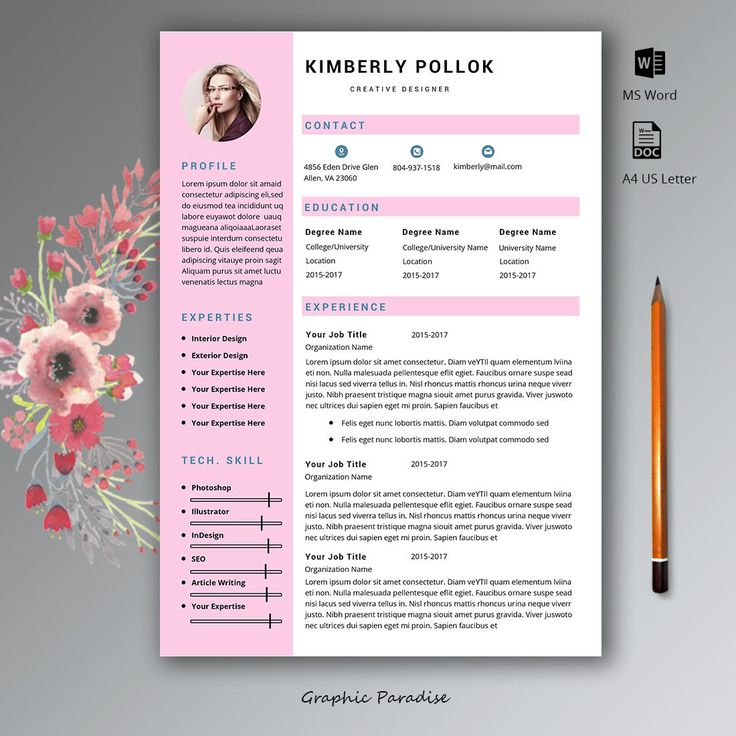 13 best Resume with cover letter images on Pinterest Cover - one page resume template word