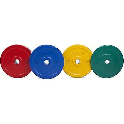 Weight Plate 45 Pounds Olympic Rubber Red Weightlifting Training Single Weights