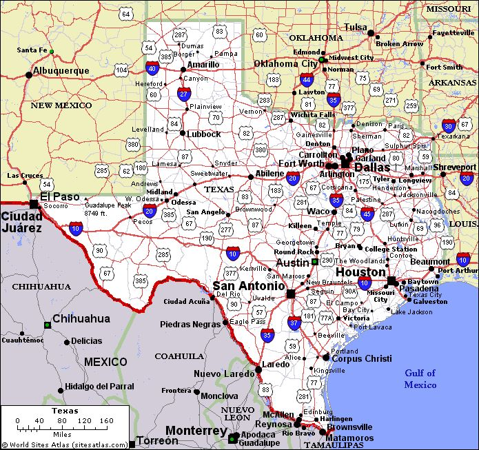 Texas Map with All Its Cities | online-map-of-texas