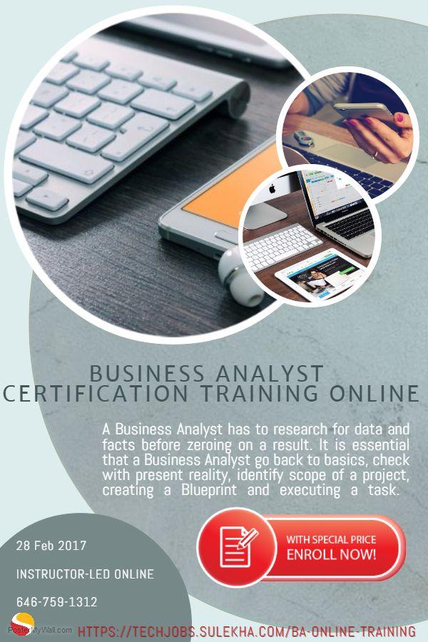 BusinessAnalystCertification Online Training program from Feb 28th