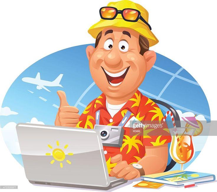Vector Art : Online Travel Booking