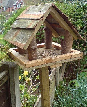 bird table for all the birds that visit our garden - Gardening Lene