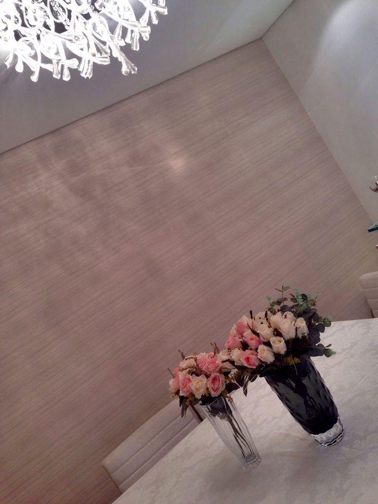 Papel de parede linho.. Para sala de jantar...