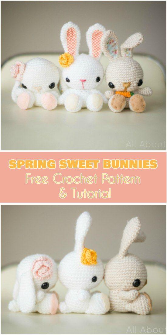 Spring Sweet Bunny [Amigurumi Free Pattern]
