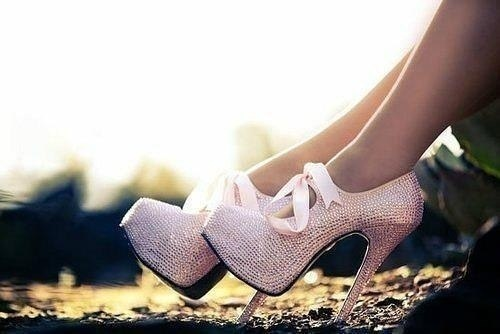 light pink diamond heels with bow love
