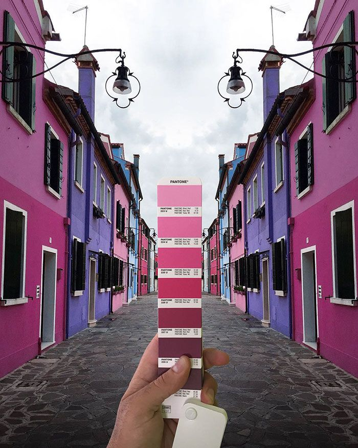 Italian graphic designer Andrea Antoni searches the world for Pantone colors, reminding us to embrace the colorful nature of our surroundings.