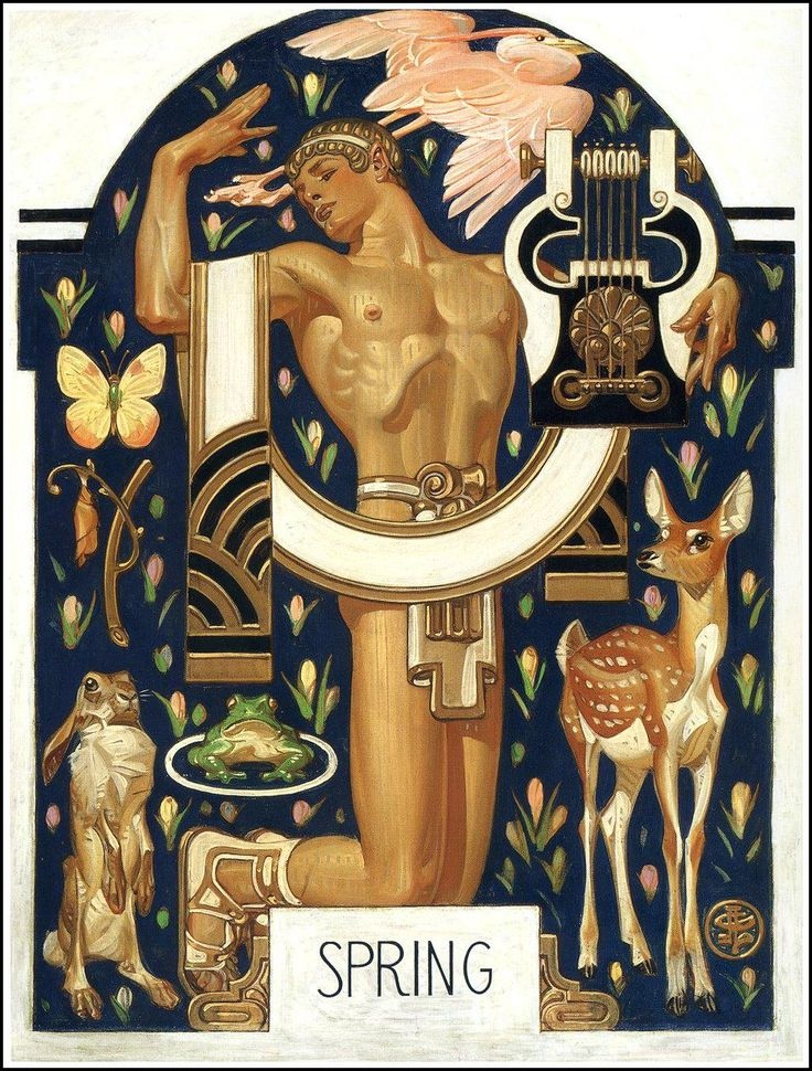 J.C. Leyendecker. Spring  1929