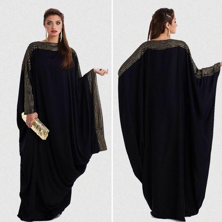 Más el tamaño S ~ 6XL calidad últimas árabe elegante abaya kaftan dubai islámica musulmán de moda vestido de ropa de diseño de las mujeres negro abaya